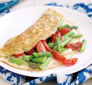 Tomato and asparagus omelette | Australian Healthy Food Guide
