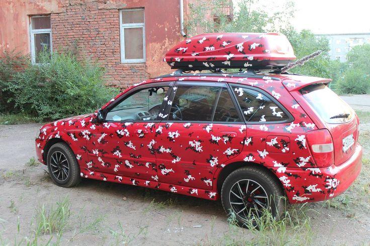 #vinil #avtovinil #camo #Mazdafamilia
