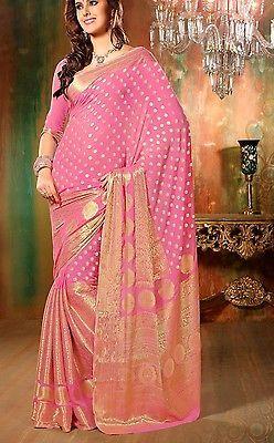Designer Indian Saree Sari South Indian Style Chiffon Wedding Bollywood Party