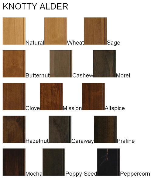 Knotted Oak Kitchen Cabinets: Alder Is A Smooth Hardwood With Color And Graining Similar