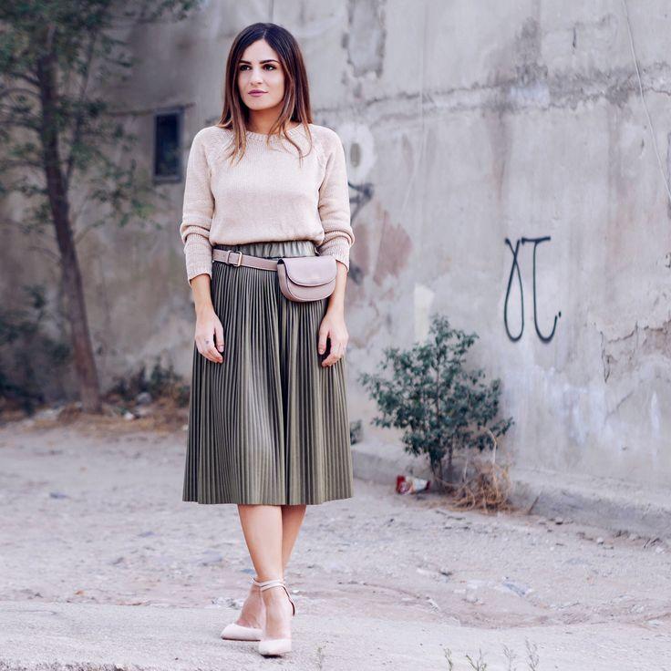 Leather skirt bag nudes
