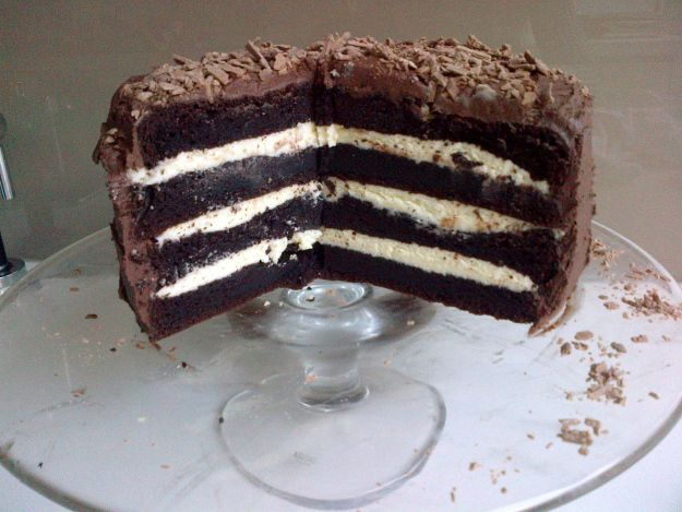 Neil Perry Chocolate and Ricotta cake