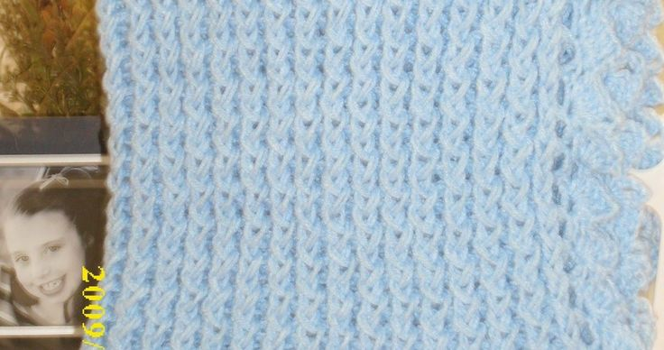 Knitting Loom Blanket : I recently finished loom knitting my first baby blanket