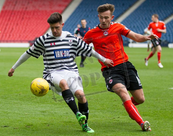 Queen's Park's Paul Woods on the ball during the SPFL League Two game between Queen's Park and Clyde.