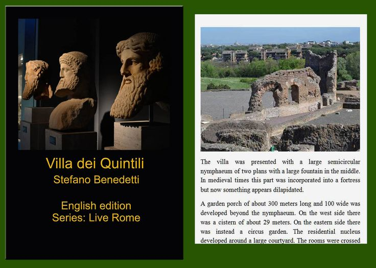 AMAZON - The most beautiful places in #Rome: #Villa dei #Quintili http://amzn.to/2fXwJpe
