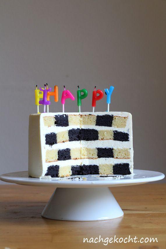 Schachbrett Kuchen zum Geburtstag