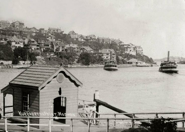 Ferries Kirawa and Kanangra passing in Mosman Bay c. 1938