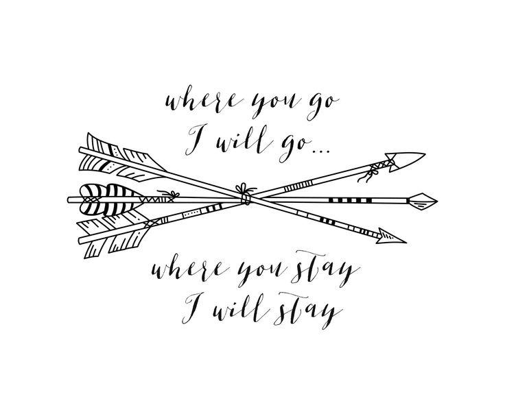 Where you go | Arrow Print