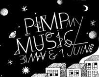"Pimp my  music ""party"" artwork by Timothée Babaud, via Behance"