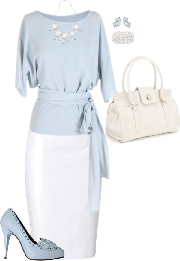 """Pale Blue and White - Contest"" by angelysty on Polyvore"