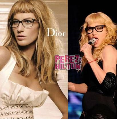 Gisele and Madonna with short bangs