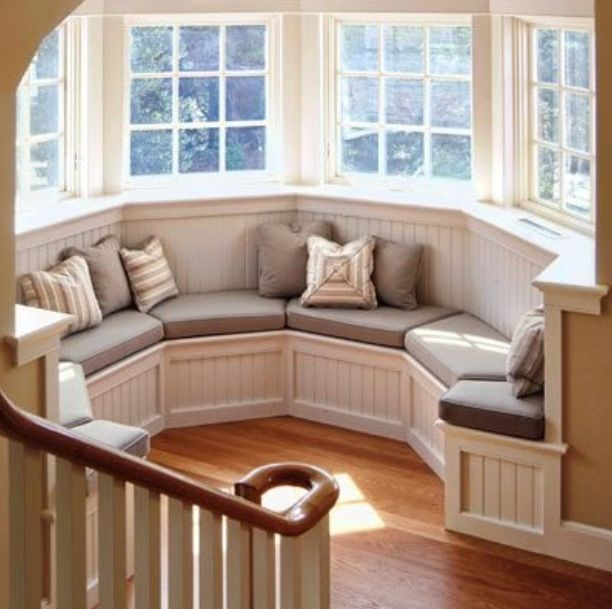 25 best ideas about bay window seats on pinterest for What furniture to put in a bay window