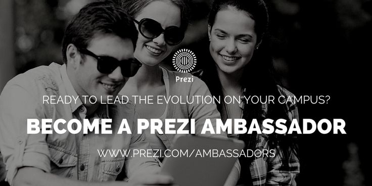 Become a #Prezi Ambassador at your university & join an elite team of global rock stars. #StartUp #LeadersWanted www.prezi.com/ambassadors DEADLINE: APRIL 15th, 2015