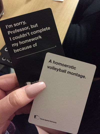 """An acceptable excuse, right? 