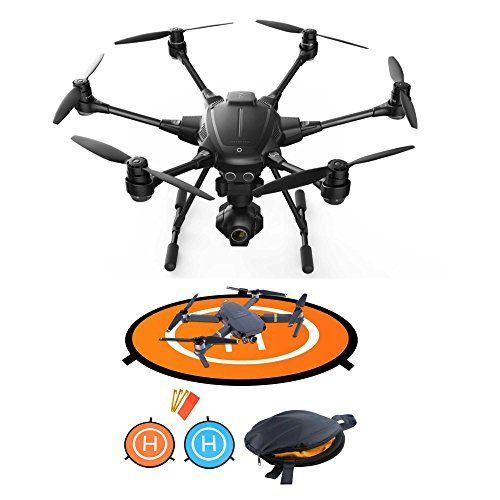 Six rotor safety 3-axis gimbal with 360 degree panning Records 4k video at 30fps / 1080p up to 120fps Captures 12MP still photos Shutter range 1/30 - 1/8000