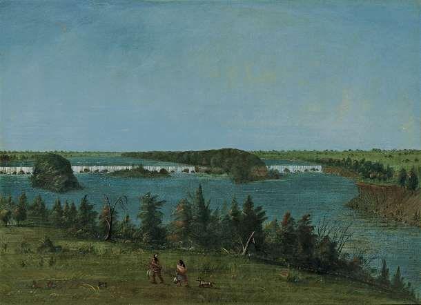 Las Cataratas de San Antonio 1871 de George Catlin en el Museo Thyssen-Bornemisza de Madrid.