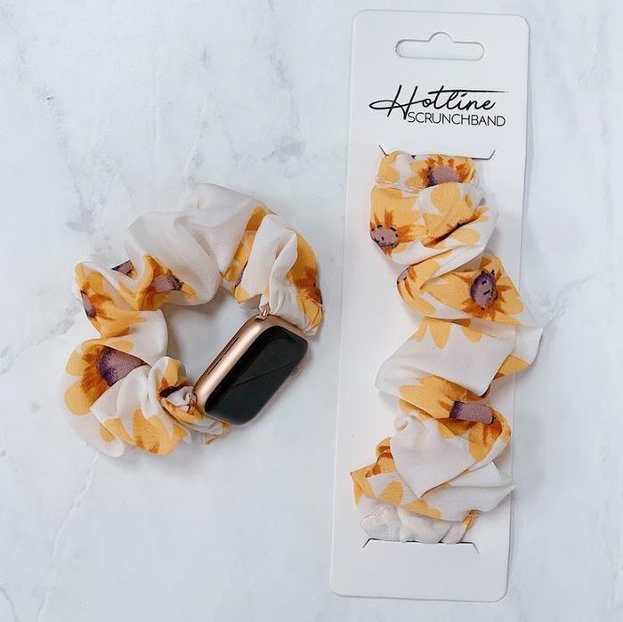 Hotline Hairties Scrunchie Scrunchband Watch Band Sunflowers
