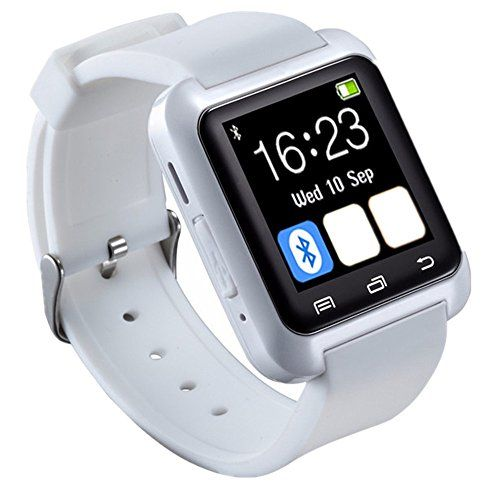 cool Skye Reker U80 Smart Bluetooth Watch For Samsung S4 S5 Note 3 Smart Wristwatch For Sony LG Smart Watch For iPhone (White)