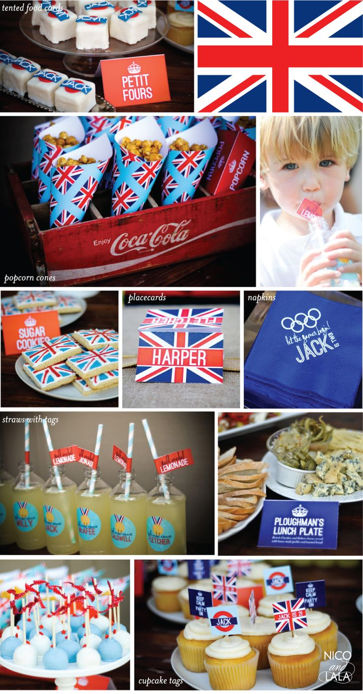 "Olympics themed birthday for ""Union Jack"" 