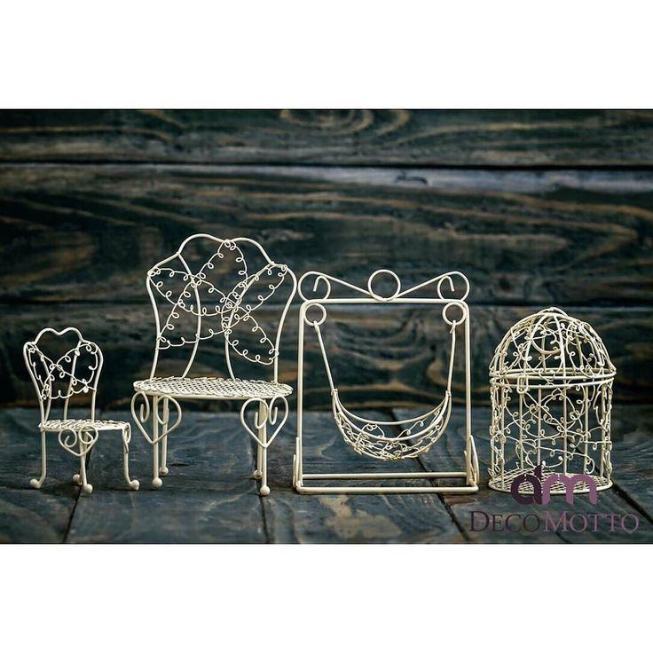 decomotto.com.tr | Ferforje Ürünlerimiz Çok Sevimli Değil mi?  Kafes 6 TL  Salıncak 8 TL Büyük Sandalye 7 TL Küçük Sandalye 4 TL Whatsapp 0 536 6903341 ya da DM ya da Profildeki link www.decomotto.com.tr  #decomotto #madeinanatolia #cicievim#caysunumu #renklisunumlar#evdekorasyon #caykeyfi#mutfakbecerileriniz #ruyaevler#güzelevim #çeyiz #dekoratif #tasarim#gununuzguzelgecsin #kişiyeözel #gelinlik #örgüaşki #sofrasunumu #seninsunumun #renklievler  #evdekorasyonfikirleri #gününkahvesi…