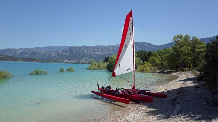 Hobie Tandem Island, Lac de Sainte Croix, France