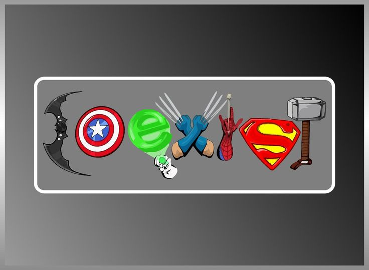 "Coexist Superhero Marvel DC Captain America Thor Cool  Decal Vinyl Decal Bumper Sticker 3""x8"". $5.00, via Etsy."