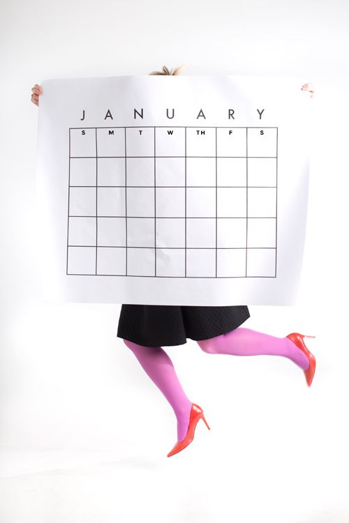 Gigantic free printable calendar