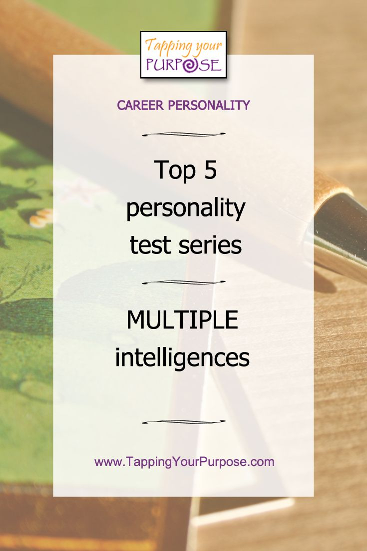 Career Personality | Top 5 personality test series: Multiple intelligences #careerpersonality #career #careerchange #knowyourself