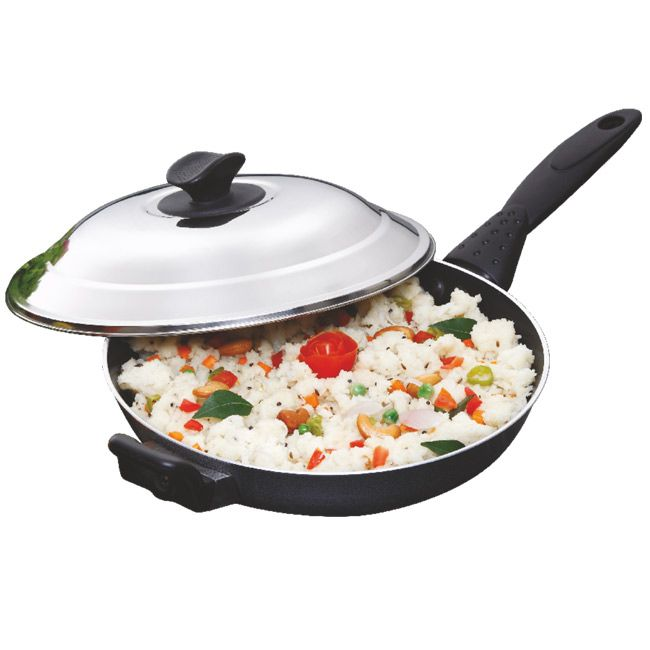 buy maple nonstick deep frying pan with lid 260mm online click here http - Best Non Stick Frying Pan