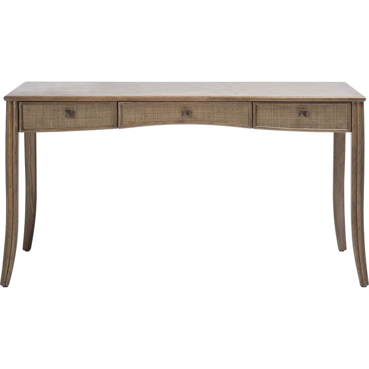 Buy Barbara Barry Caned Desk by McGuire Furniture - Quick Ship designer Furniture from Dering Hall's collection of Transitional Desks & Writing Tables.
