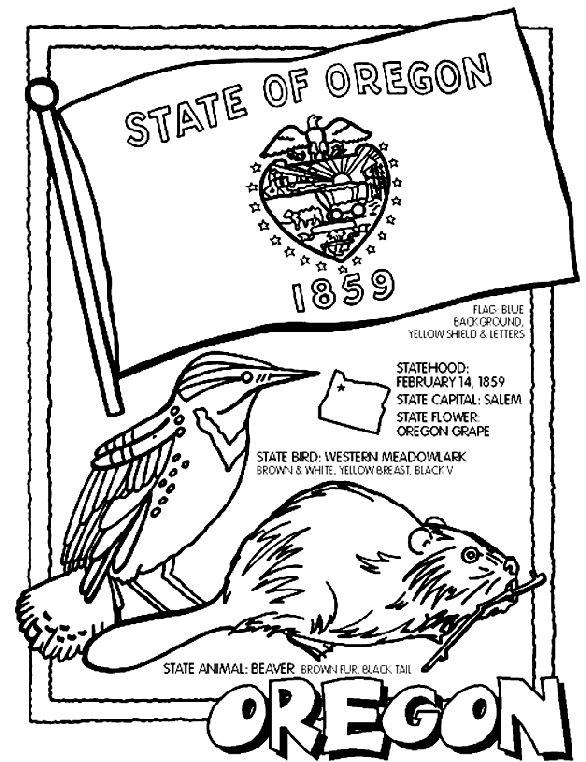 Oregon State Beavers Pages Coloring Pages