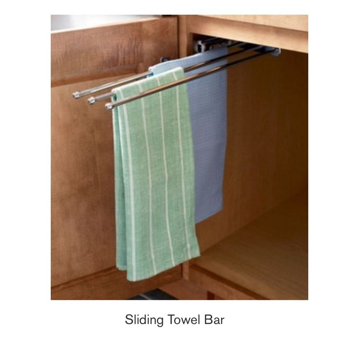 Mounted In Your Sink Base Cabinet, This Extending Hanger Keeps Your Towels  And Dishcloths Within Reach But Out Of Sight. Call S And W Supply Of  Central ...
