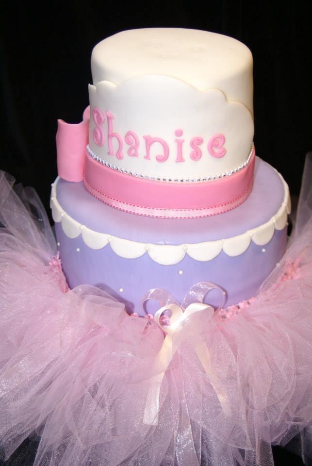 fondant tutu princess baby shower cake princess cake pinterest