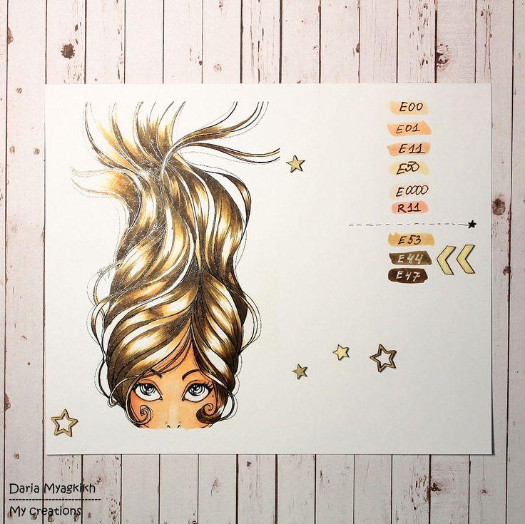 Copic Marker Europe: Hair tutorial from Daria Myagkikh