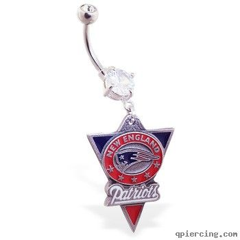 New England Patriots official licensed NFL football belly ring  http://qpiercing.com/belly-button-rings/new-england-patriots-official-licensed-nfl-football-belly-ring-1182380.html