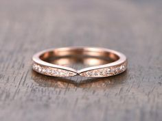 Curved Wedding Band Chevron Wedding Band,Twist Wed…