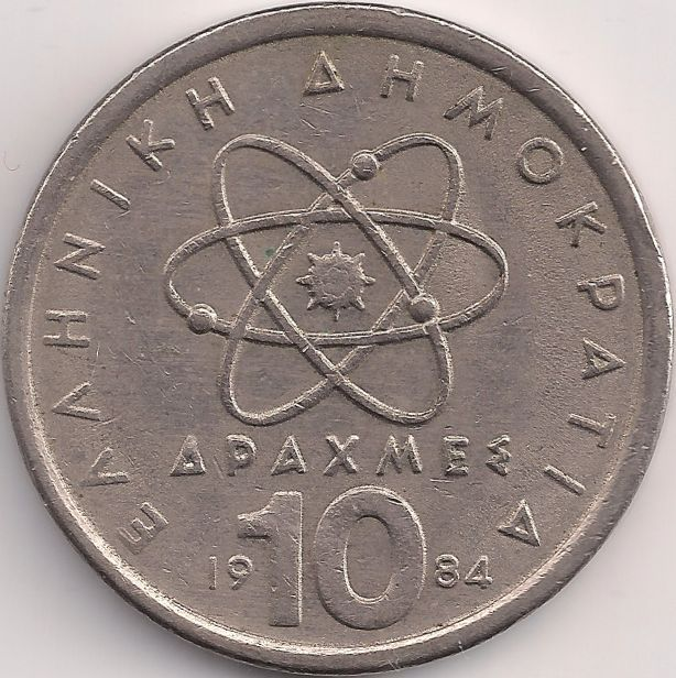 Wertseite: Münze-Europa-Südosteuropa-Griechenland-Drachme-10.00-1982-2000
