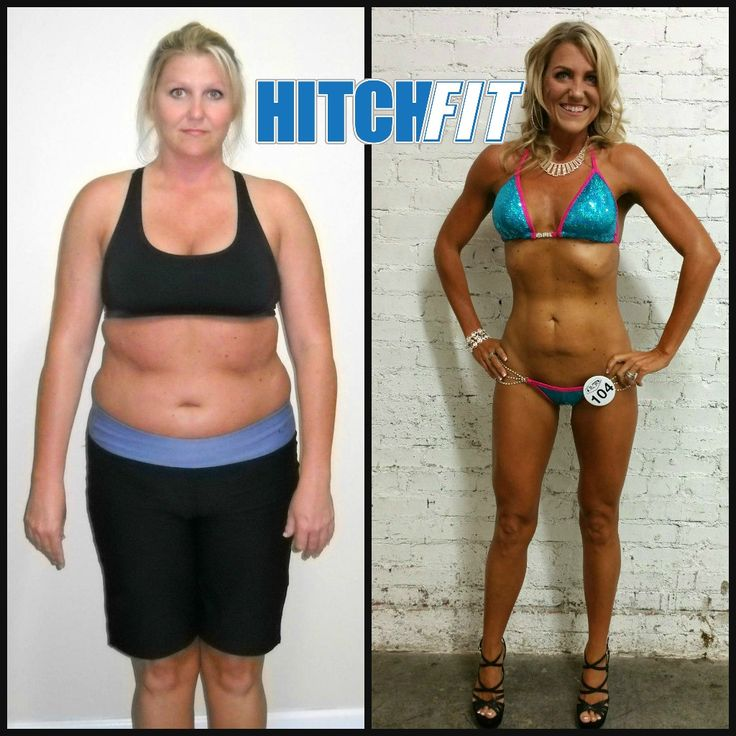 Bikini Model Competition Plan - Beckie's Amazing Success Story! She lost 45 pounds and 20% body fat with Hitch Fit.   #BeforeandAfter #WeightLoss