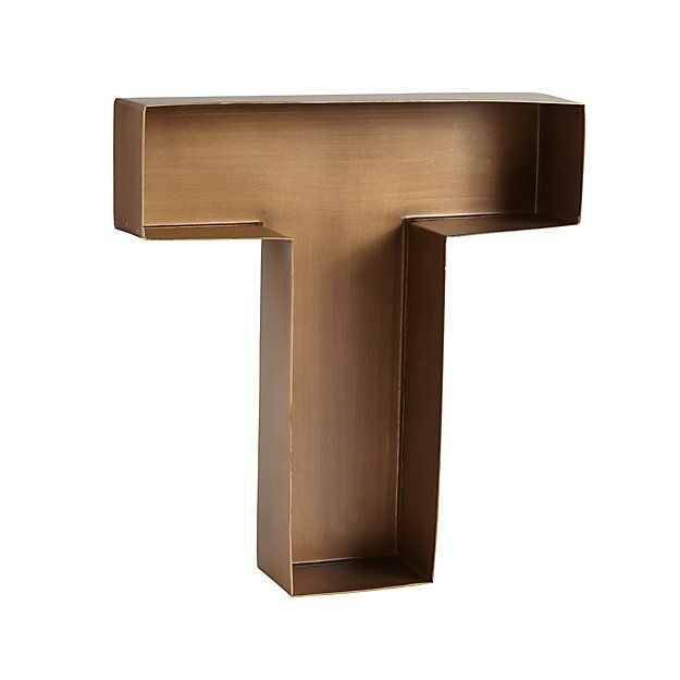T Magnificent Metal Letter | The Land of Nod