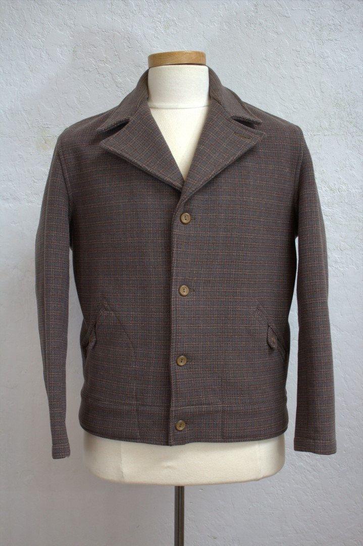 sz L 1940/'s-50/'s vintage Penney/'s Heavy Buffalo Plaid Hunting Jacket