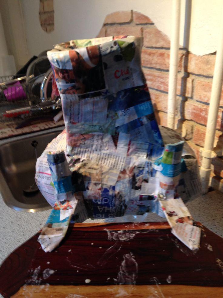 Piñata in progress
