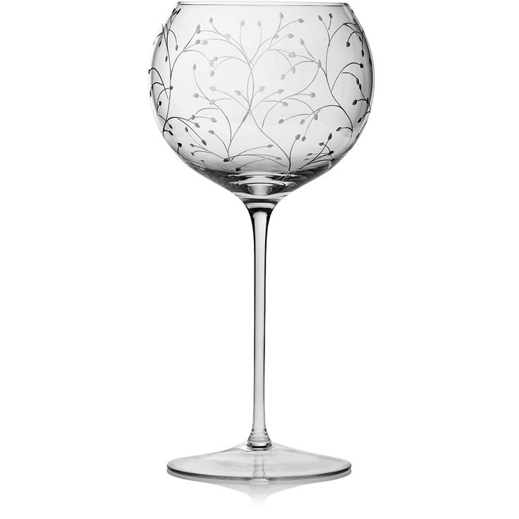 CLEAR | Handmade Glass Blown Baloon Wine Goblet, Rosehip-Clear 3300, height: 229 mm | diameter: 114 mm | volume: 560 ml | Bohemian Crystal | Crystal Glass | Luxurious Glass | Hand Engraved | Original Gift for Everyone | clarescoglass.com