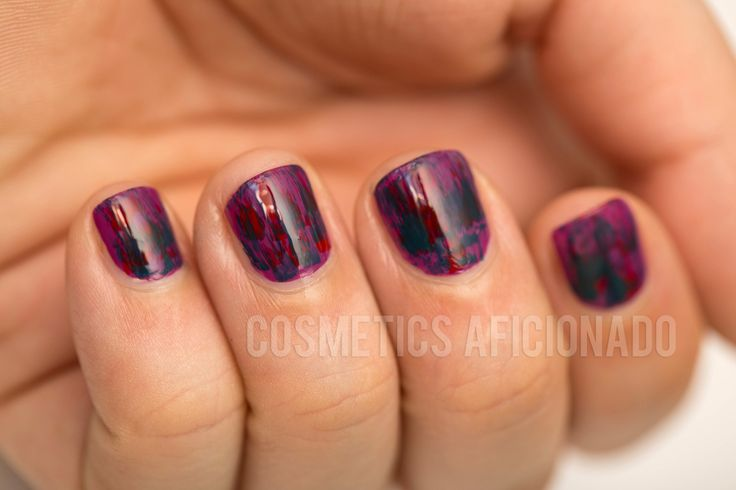 Cosmetics Aficionado: Distressed Nail Art