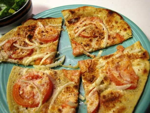 Chickpea Flour Pizza:  yeast free!  just chickpea flour, salt and water.  Makes a batter that you cook stove top on a cast iron skillet with olive oil. Once crisp, add toppings and transfer to oven under broiler for a few minutes.