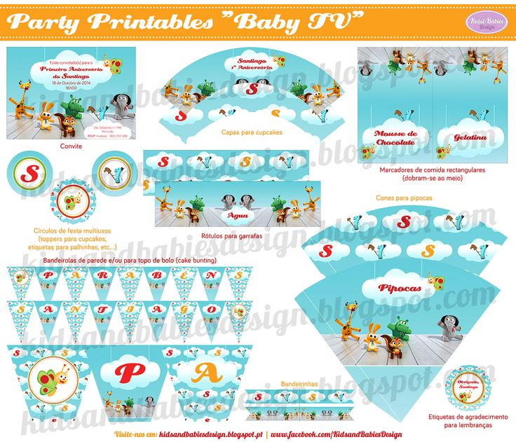 Party Printables :: Baby TV