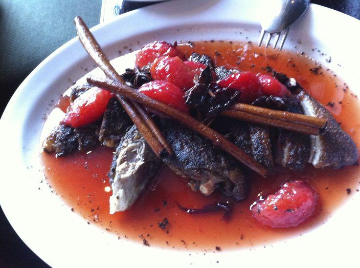 Crispy roast duck with cinnamon, Billy Kwong's, Sydney.