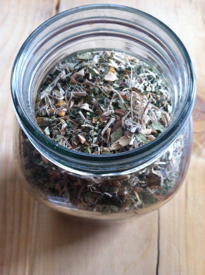 Herbs for Weight Loss: A Recipe for Slimming Herbal Tea  -   Nettle, Siberian Ginseng, Senna, Dandelion, Marshmallow root, Slippery Elm bark, Sweet Cinnamon bark, Ginger, Fennel seeds.