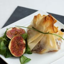 Ma recette du jour : Croustillant de magret de canard au foie gras et figues sur Recettes.net