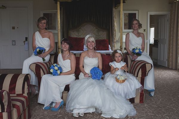 Royal Blue Vintage Glamour Wedding White Bridesmaids http://www.sallytphotography.com/