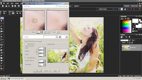 Corel Paint Shop Pro editing